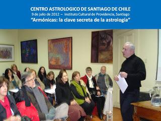 1ª Conferencia ofrecida por el Centro Astrológico de Chile
